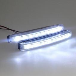 LED DRL Feux de jour diurne 8 LED Blanc Xenon