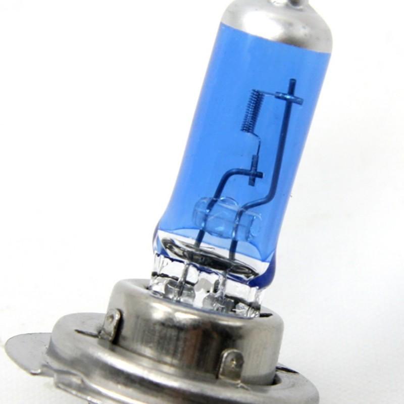 Kit DE 2 Ampoules Halogene XENON GAZ SUPER WHITE H7 55W 6500K 12V